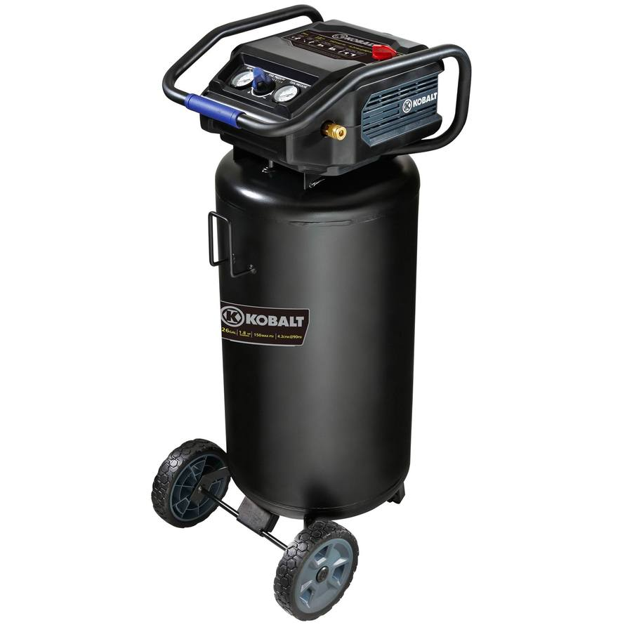 Shop Kobalt 1 8 Hp 26 Gallon 150 Psi 120 Volt Vertical