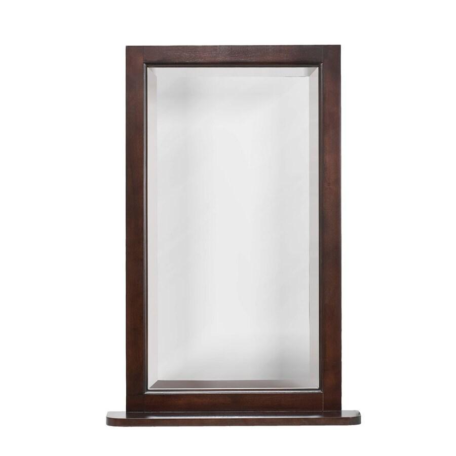 allen + roth 22-in W x 32-in H Espresso Rectangular Bathroom Mirror