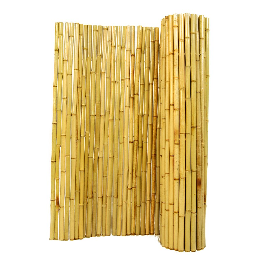 Backyard X-Scapes 1-in dia x 4-ft H x 8-ft L Natural Rolled Bamboo Fencing