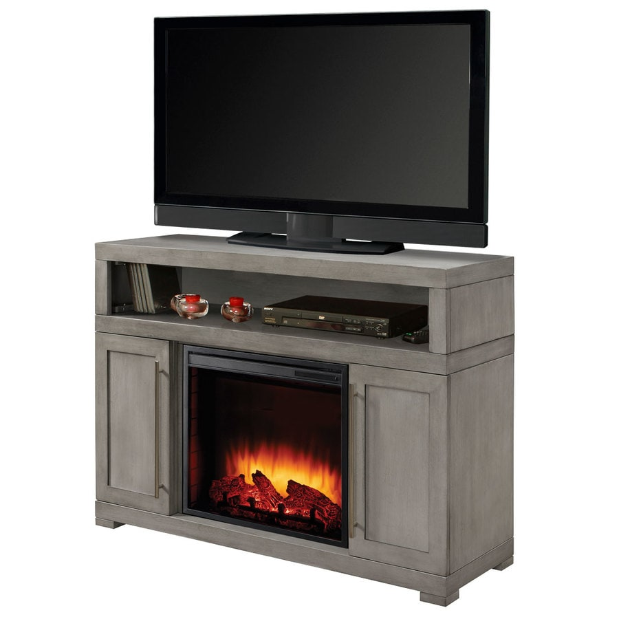 Muskoka 47.75-in W 4600-BTU Light Weathered Gray Wood Veneer Fan-Forced Electric Fireplace with Thermostat and Remote