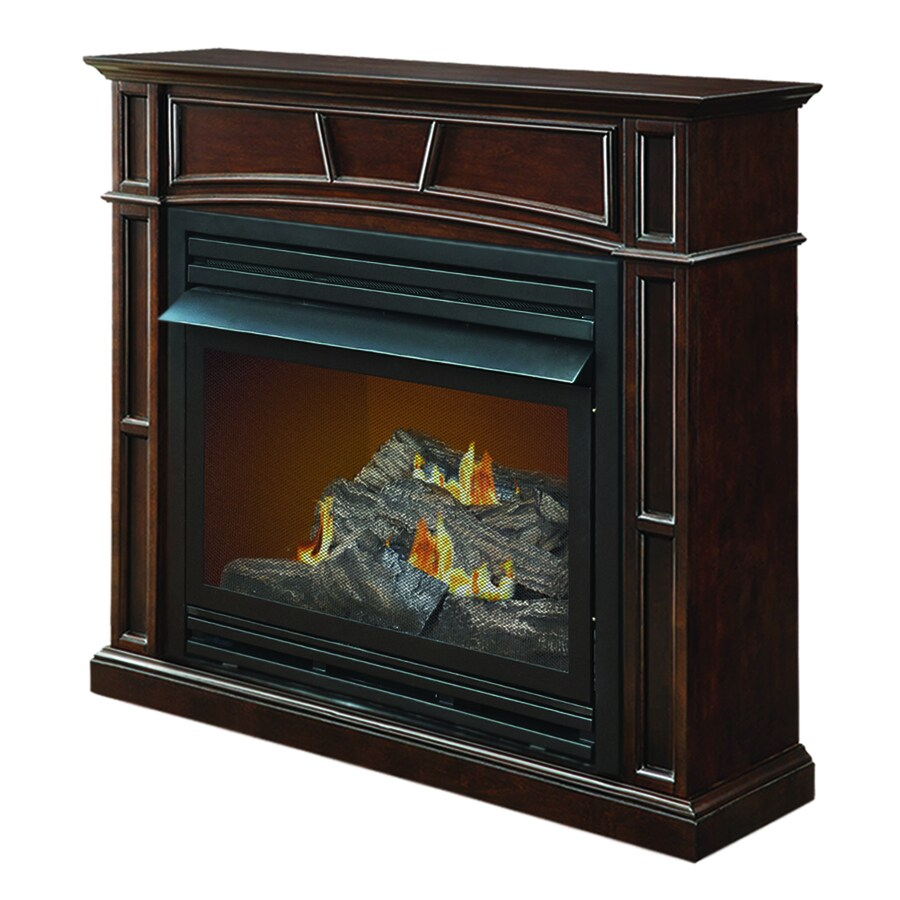 Shop Pleasant Hearth 45 7 In Dual Burner Vent Free Tobacco Corner Liquid Propane Or Natural Gas
