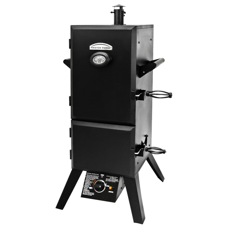 Master Forge 50.2-in 20 lb Cylinder Electronic Ignition Gas Vertical Smoker