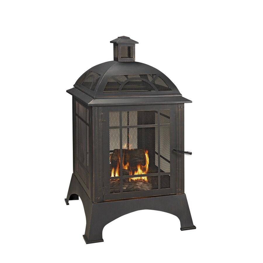 28.15-in W Rubbed Bronze Steel Wood-Burning Fire Pit