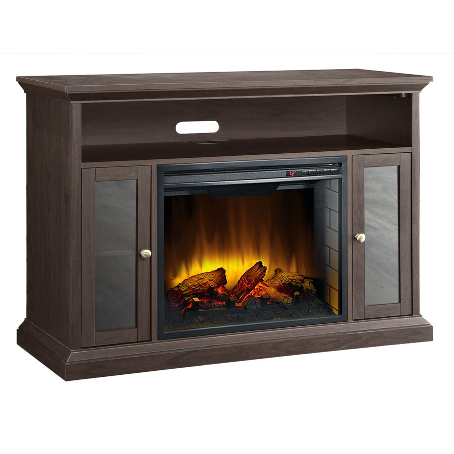 Pleasant Hearth 46.75-in W 4,600-BTU Espresso Wood Fan-Forced Electric Fireplace with Thermostat and Remote Control
