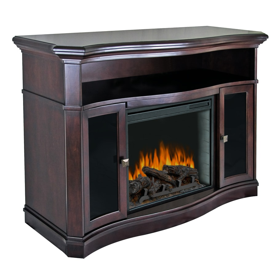 Pleasant Hearth 54-in W 4,600-BTU Merlot Wood Fan-Forced Electric Fireplace with Thermostat and Remote Control