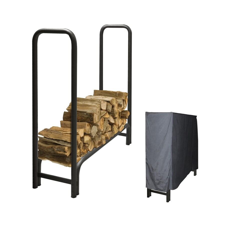 Pleasant Hearth 48-in x 14-in x 49-in Steel Quarter Cord Firewood Rack
