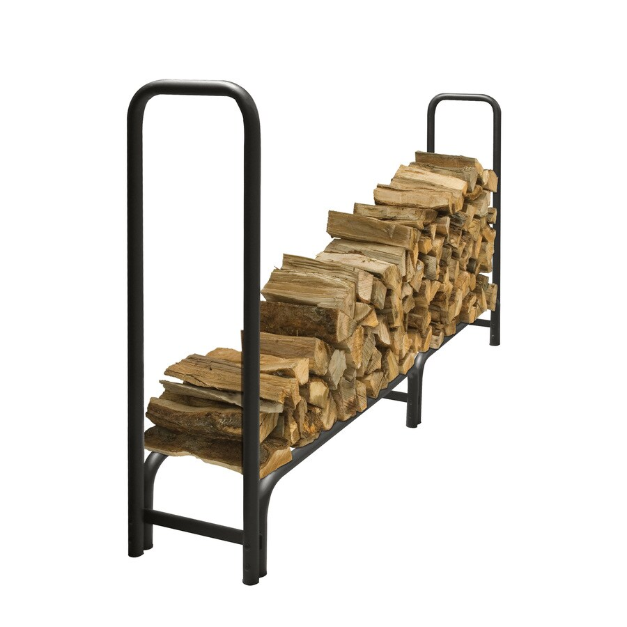 Pleasant Hearth 48-in x 14-in x 95-in Steel Half Cord Firewood Rack