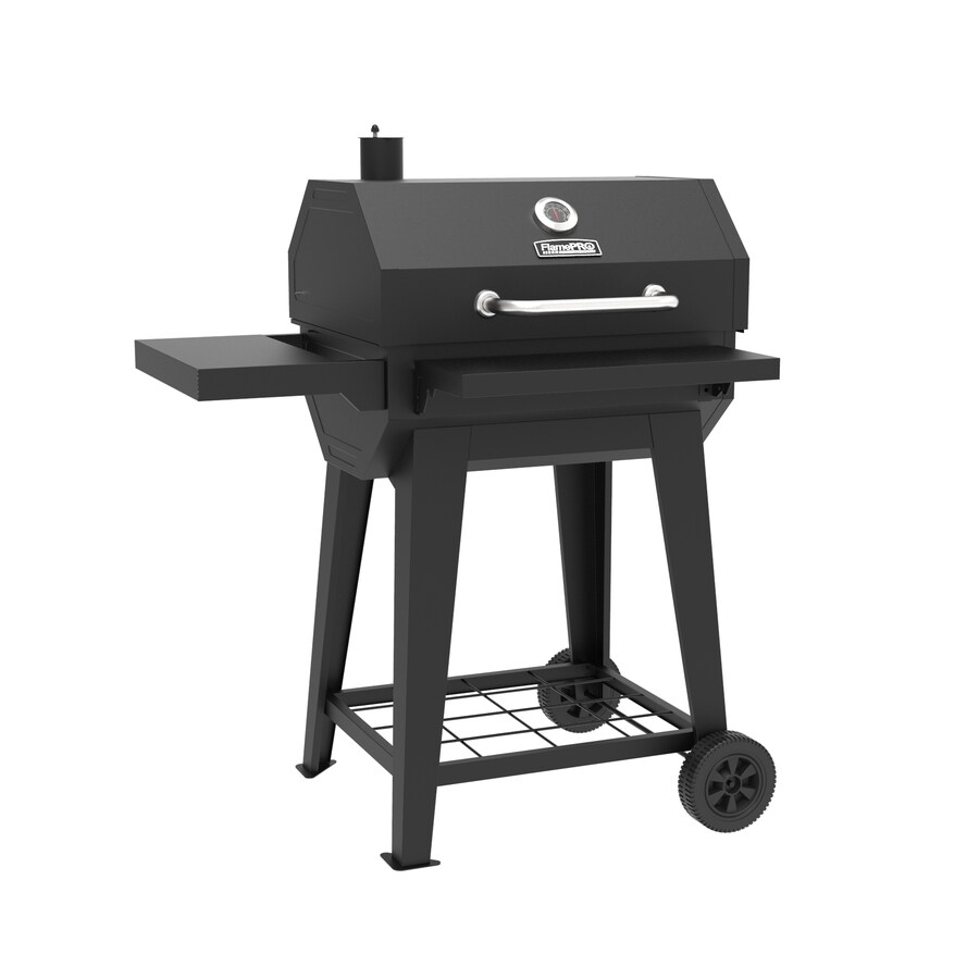 Square Charcoal Family BBQ-Convenient Space Underneath for Storage