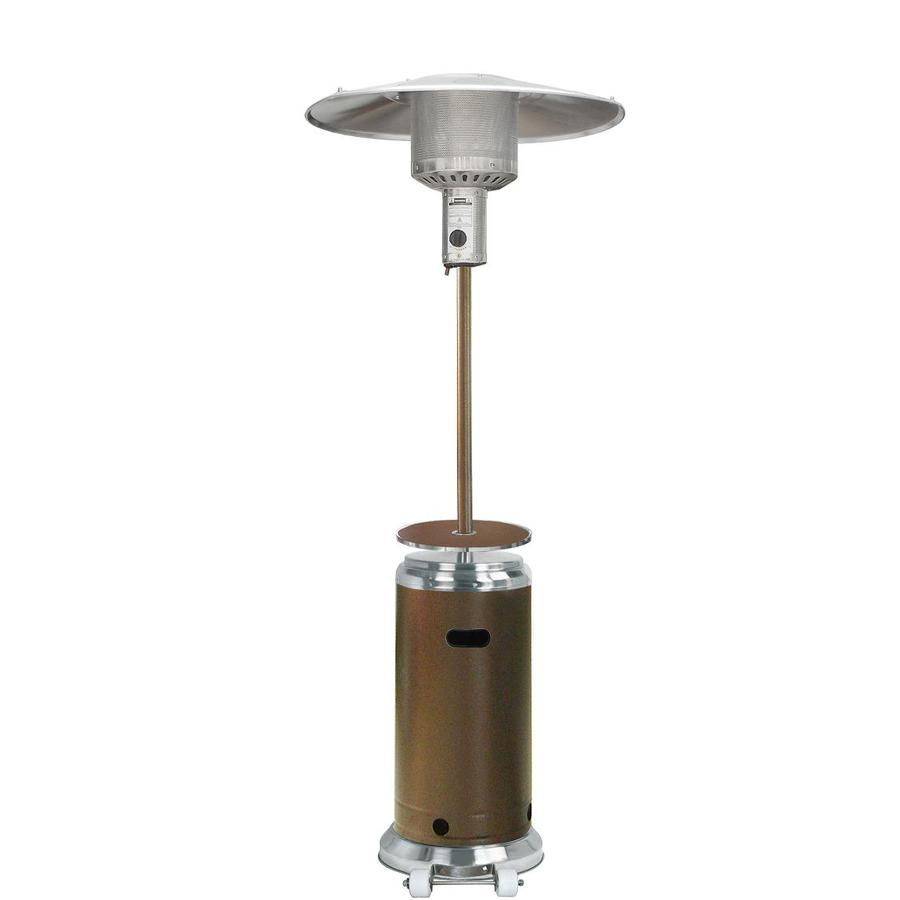 Garden Treasures 41,000-BTU Stainless Steel/Hammered Bronze Steel Liquid Propane Patio Heater