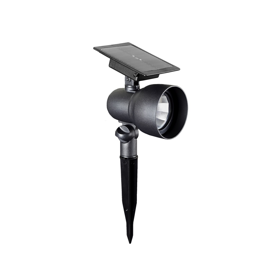 Portfolio Landscape Lighting Stakes : Portfolio textured black solar led landscape