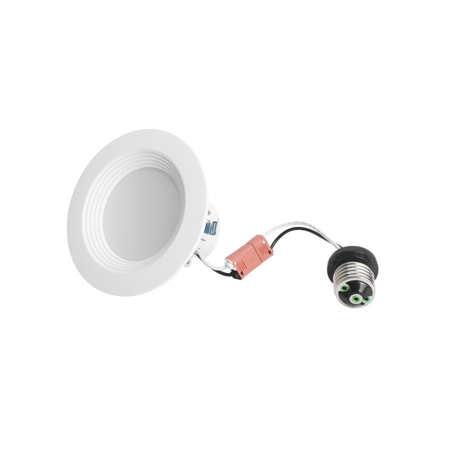 Utilitech Pro 50-Watt Equivalent White LED Recessed Retrofit Downlight (Fits Housing Diameter: 4-in)