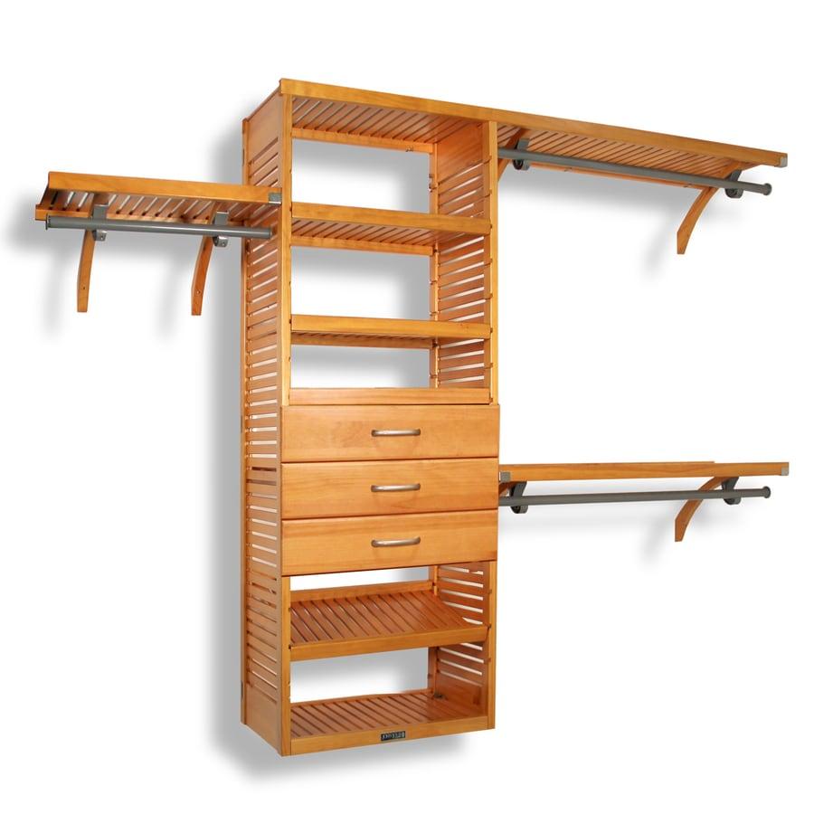 Shop John Louis Home 10 Ft X 96 Ft Honey Maple Wood Closet