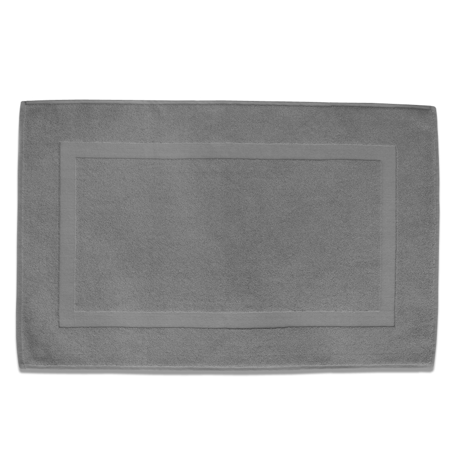 Classic 32-in x 20-in Opal Gray Cotton Bath Rug