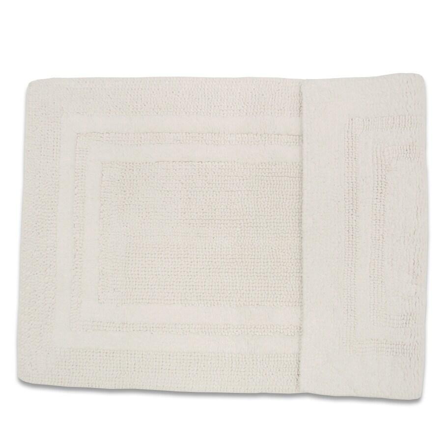 Resort 34-in x 21-in White/White Cotton Bath Rug
