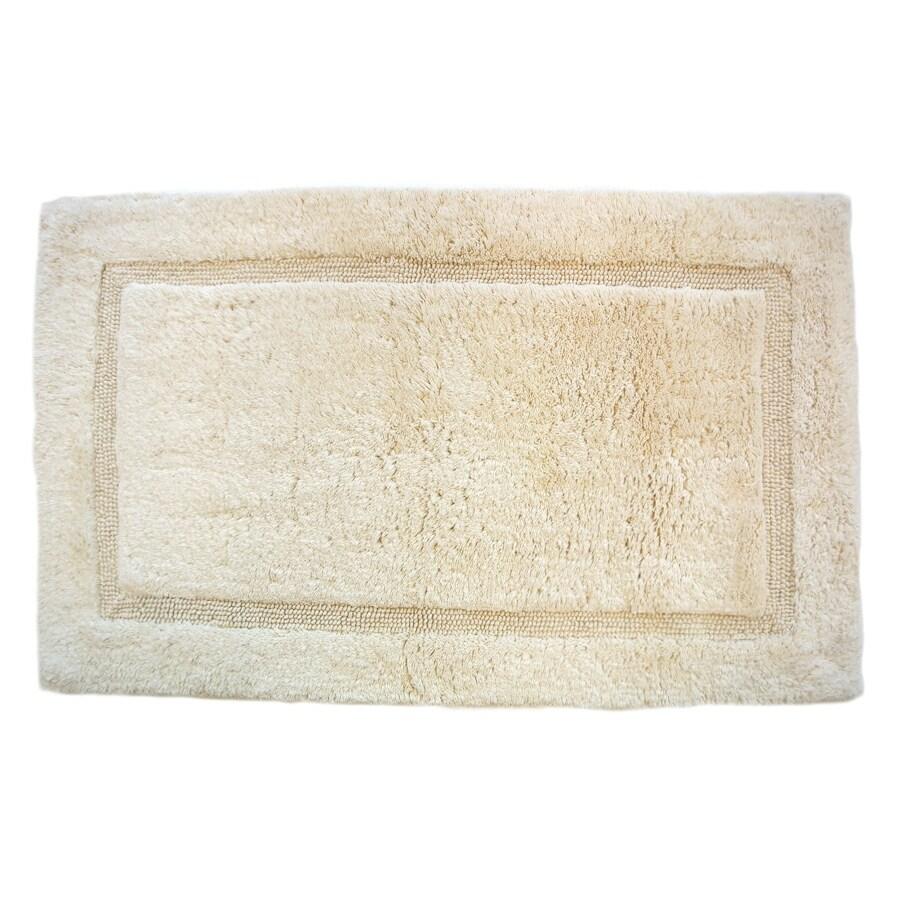 Luxury 34-in x 21-in Ecru Cotton Bath Rug