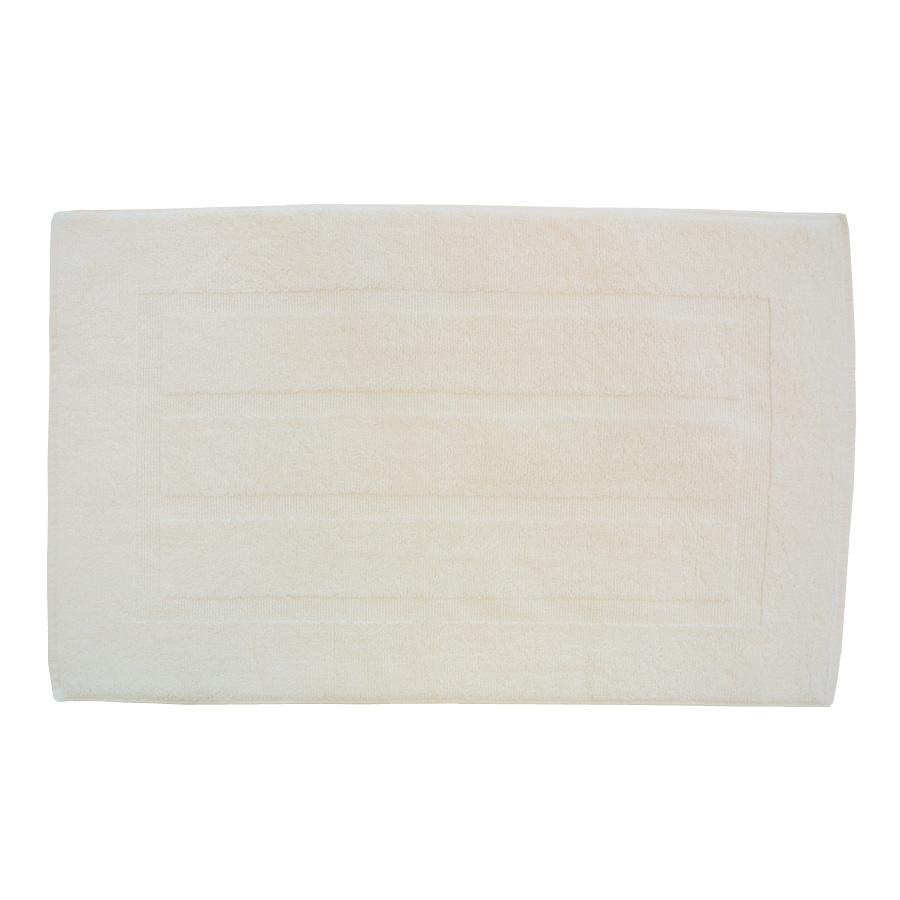 Plush Pile 32-in x 20-in Ecru Cotton Bath Rug