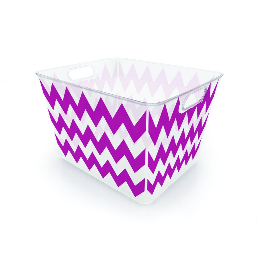 Style Selections V Basket 12.8-Quart General Tote with Standard Snap Lid