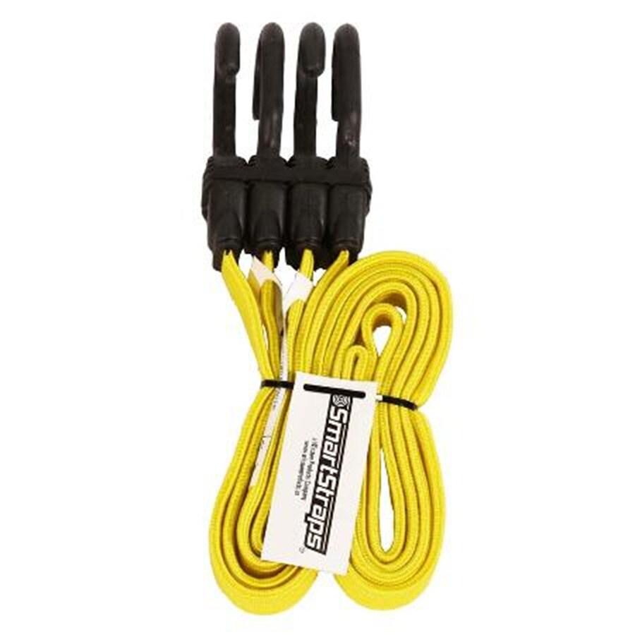 SmartStraps 4-ft Rubber Core Steel Hook Bungee Cord