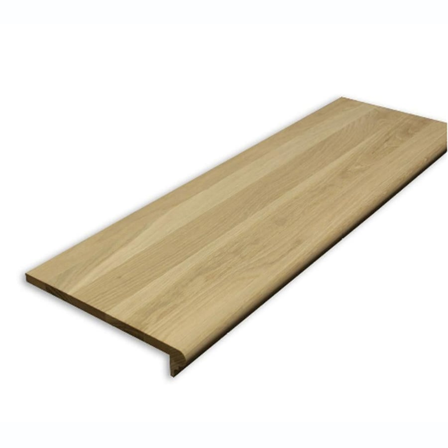 Shop Stairtek Retrotread 11 5 In X 36 In Unfinished Oak Wood Stair Tread At Lowes Com