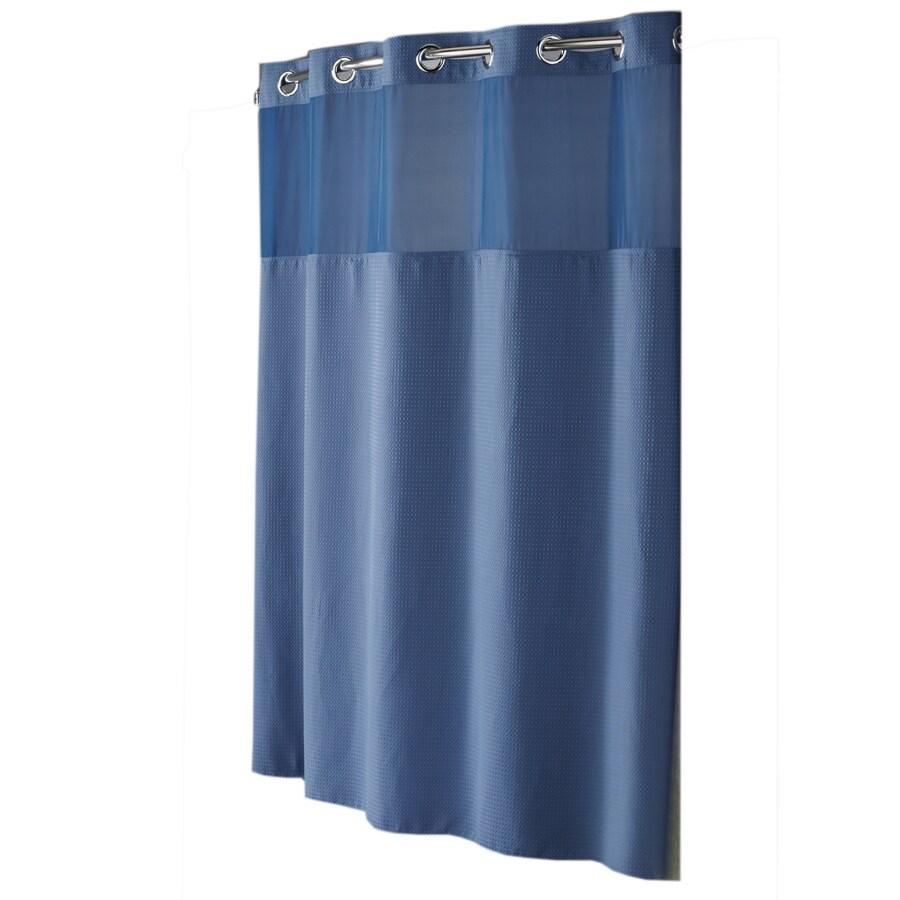 Hookless Polyester Moonlight Blue Diamond Pique Solid Shower Curtain