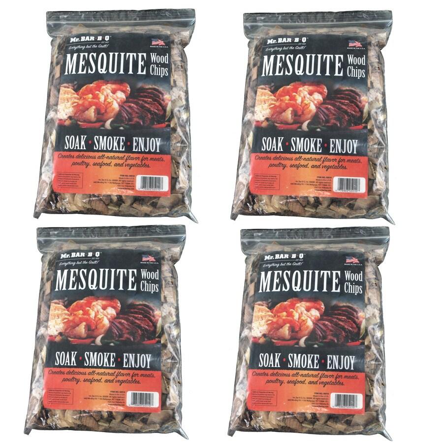 Mr. Bar-B-Q 4-Pack 8-cu in Mesquite Wood Chips