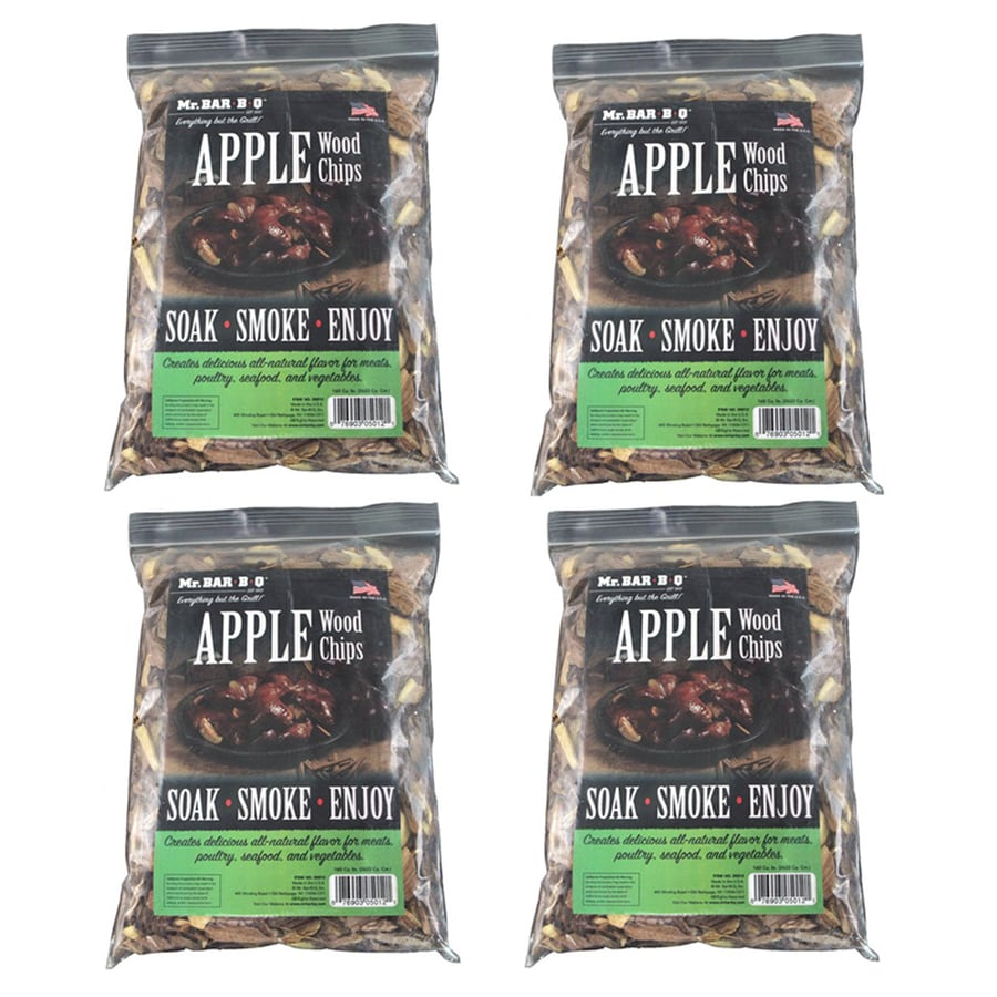 Mr. Bar-B-Q 4-Pack 8-cu in Apple Wood Chips