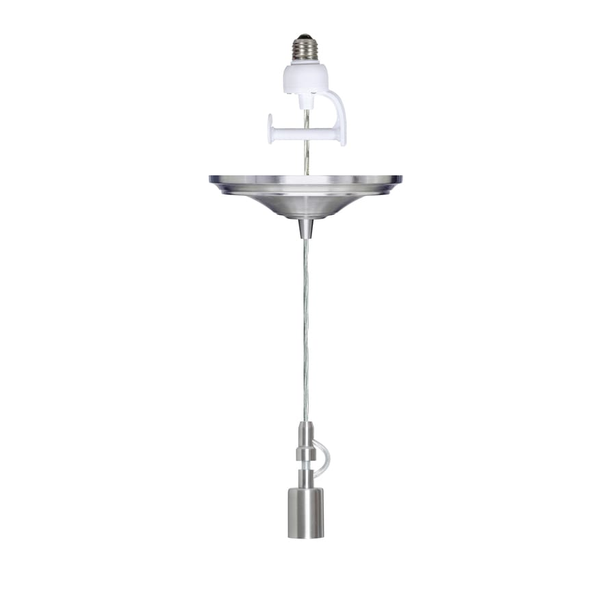 Portfolio 8.25-in Brushed Nickel Single Pendant