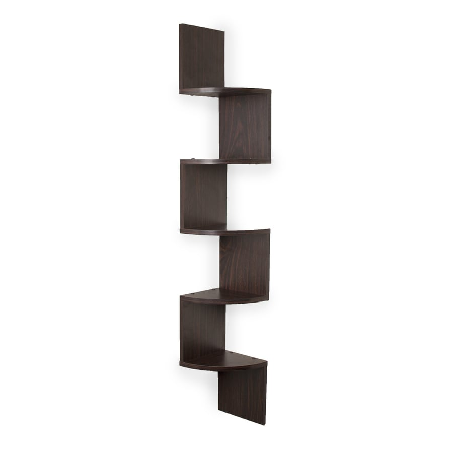 Shop danya b w x 48 5 in h x d wood wall mounted shelving at - Corner wall shelves lowes ...