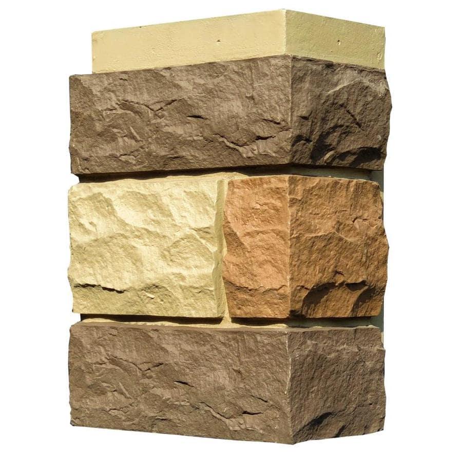 NextStone Random Rock 4-Pack 7-in x 15.5-in New England Mocha Molded Corner Stone Veneer Trim