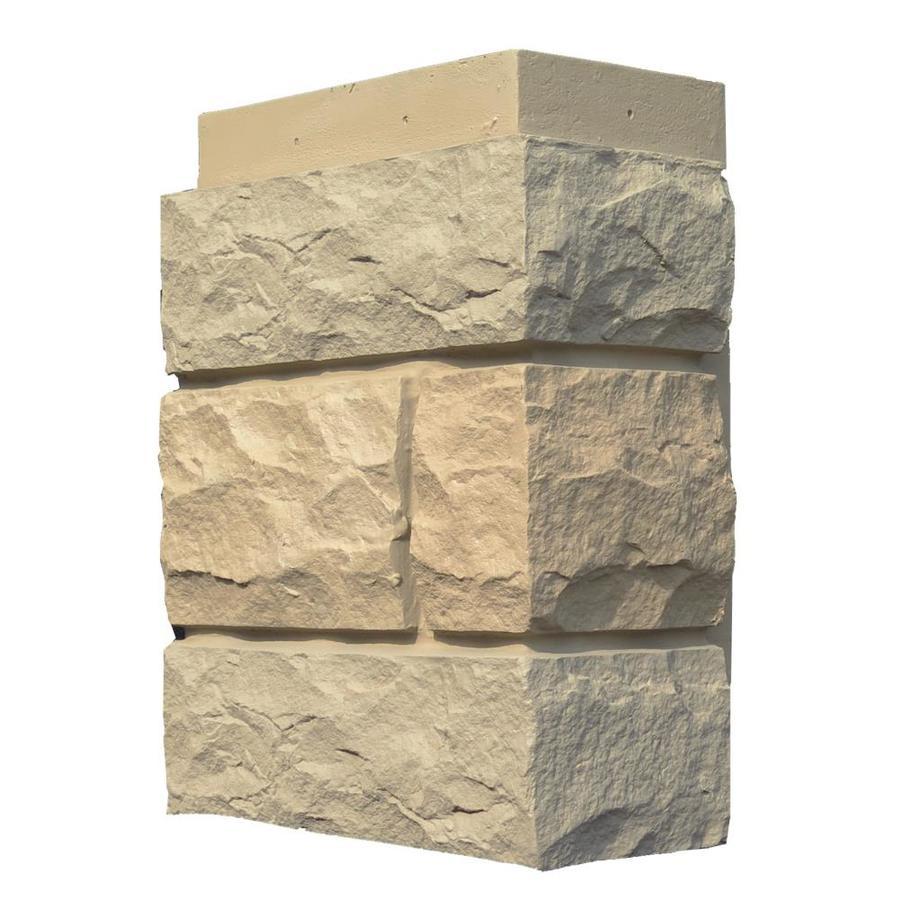 NextStone Random Rock 4-Pack 7-in x 15.5-in Tri Buff Molded Corner Stone Veneer Trim