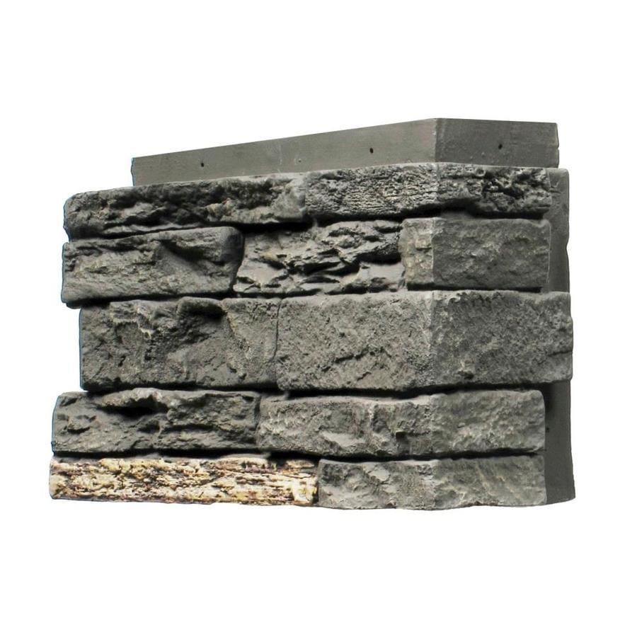 NextStone Sandstone 4-Pack 4.5-in x 12.75-in Midnight Ash Molded Corner Stone Veneer Trim