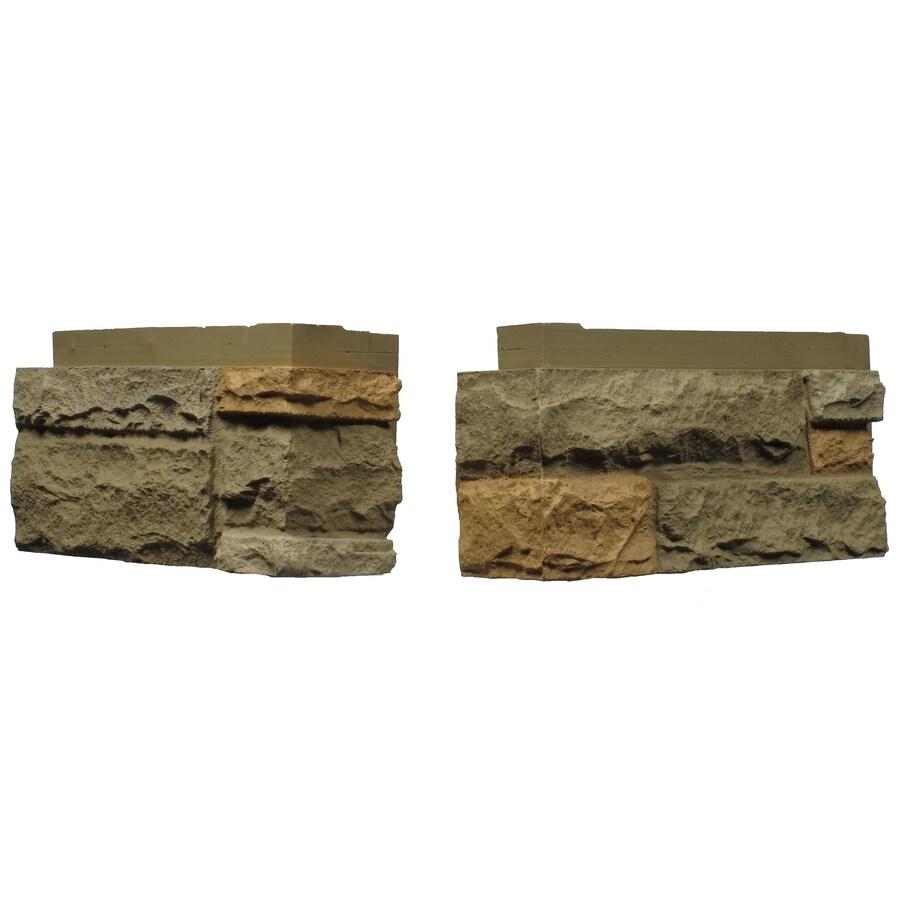 NextStone Sandstone 4-Pack 4-in x 17.5-in Adobe Molded Corner Stone Veneer Trim