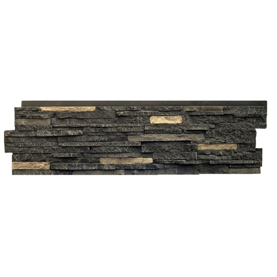 NextStone Stacked Stone Bedford Charcoal Faux Stone Veneer