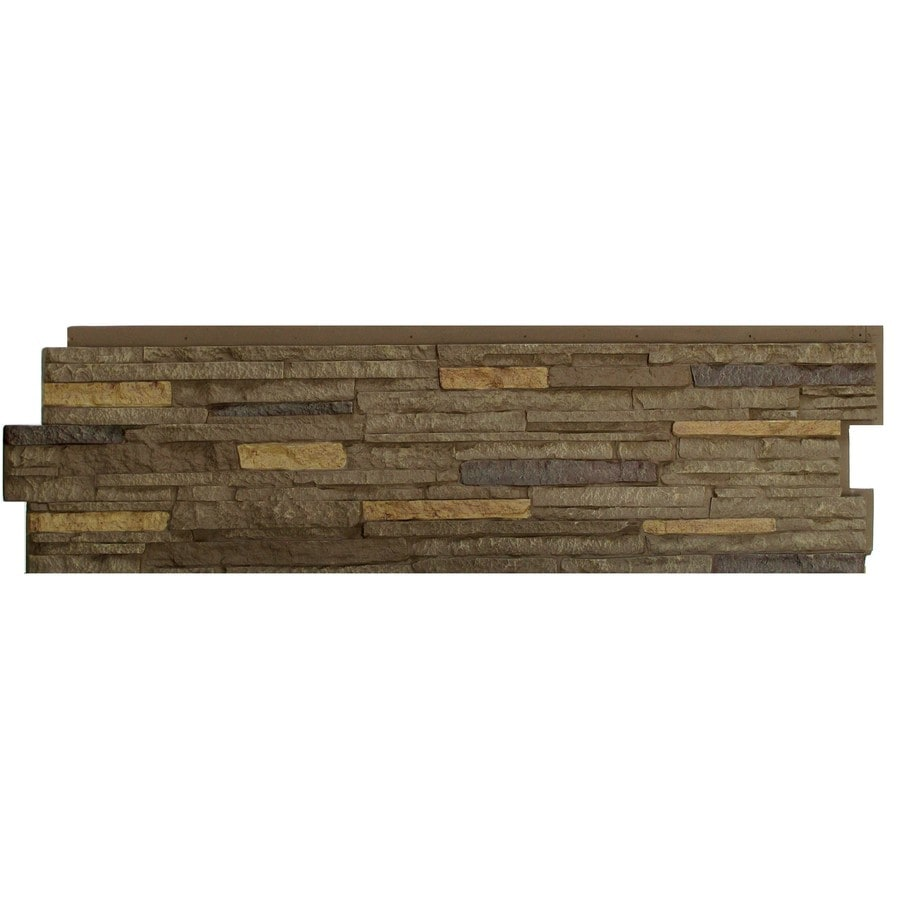 Shop Nextstone Stacked Stone Walnut Brown Faux Stone