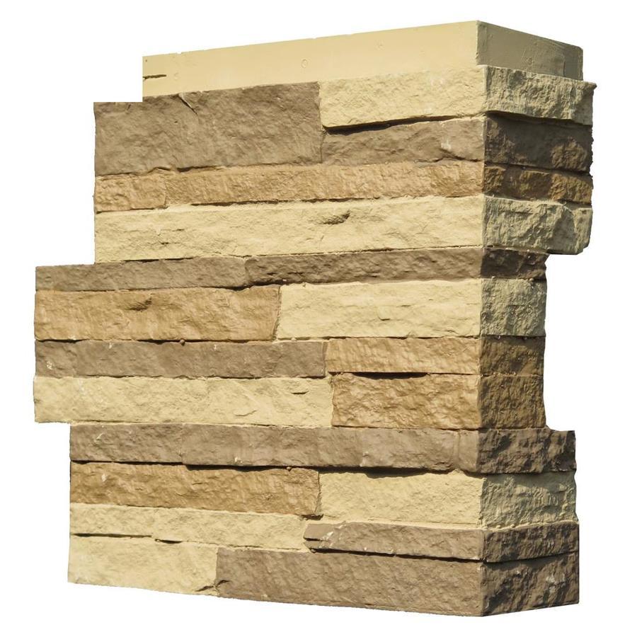 NextStone Stacked Stone 4-Pack 4.25-in x 13.75-in Carolina Cocoa Molded Corner Stone Veneer Trim