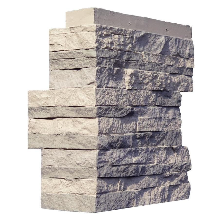 NextStone Stacked Stone 4-Pack 4.25-in x 13.75-in Kentucky Gray Molded Corner Stone Veneer Trim