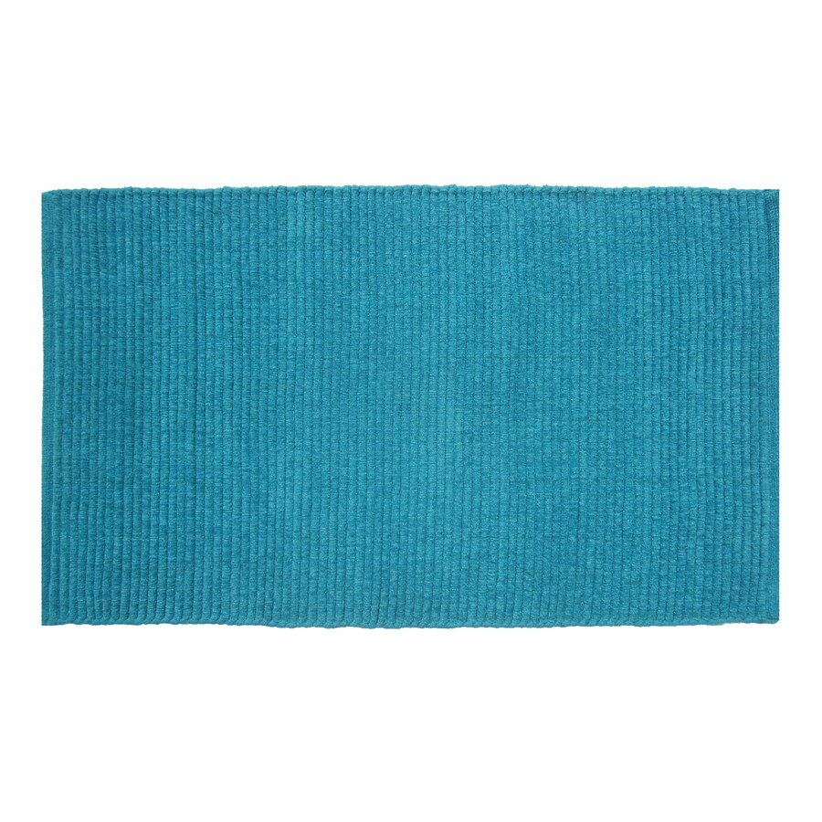 Style Selections Solid Ribbed Chenille Rectangular Indoor Woven Throw Rug (Common: 2 x 4; Actual: 27-in W x 45-in L)