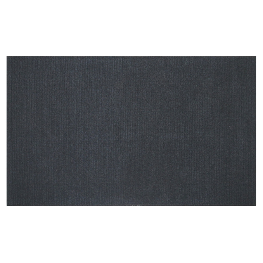 Style Selections Solid Ribbed Chenille Rectangular Black Solid Woven Chenille Accent Rug (Common: 2-ft x 4-ft; Actual: 27-in x 45-in)