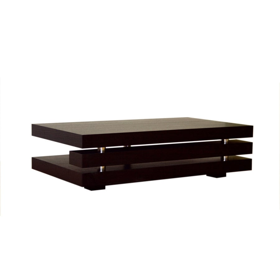 Shop baxton studio wenge rectangular coffee table at Wenge coffee tables