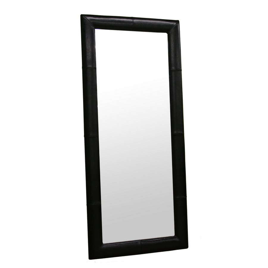 Baxton Studio Black Rectangle Framed Wall Mirror