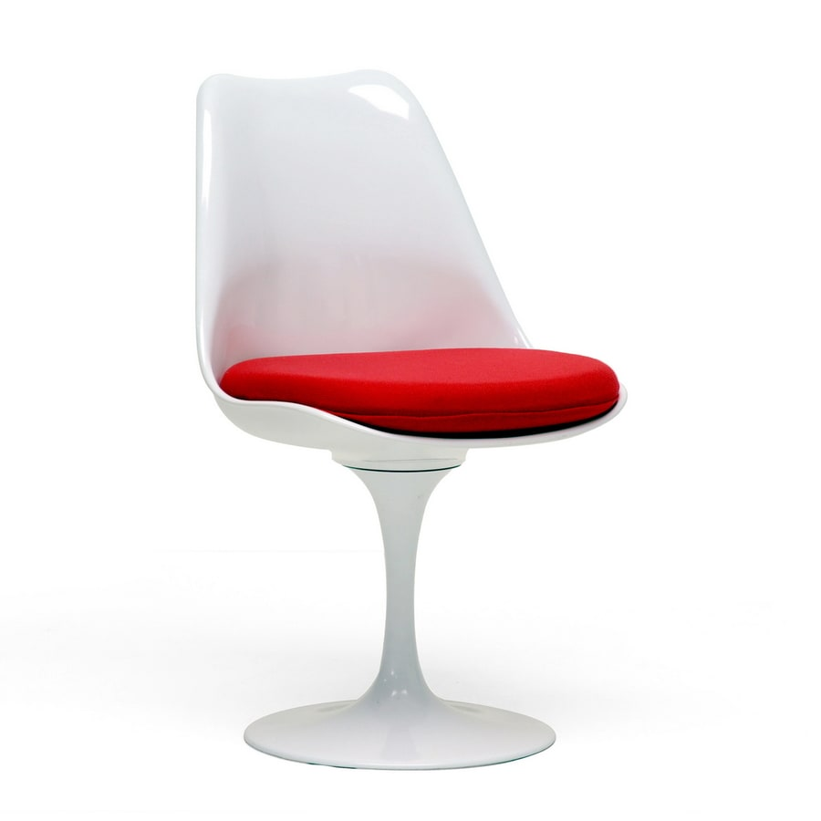 Shop Baxton Studio Baxton White And Red Accent Chair At