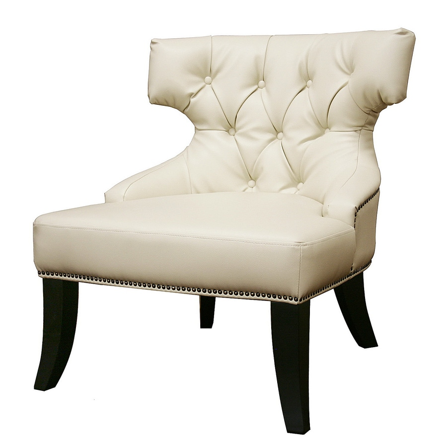 Shop baxton studio baxton white accent chair at lowescom for Baxton studio chair design