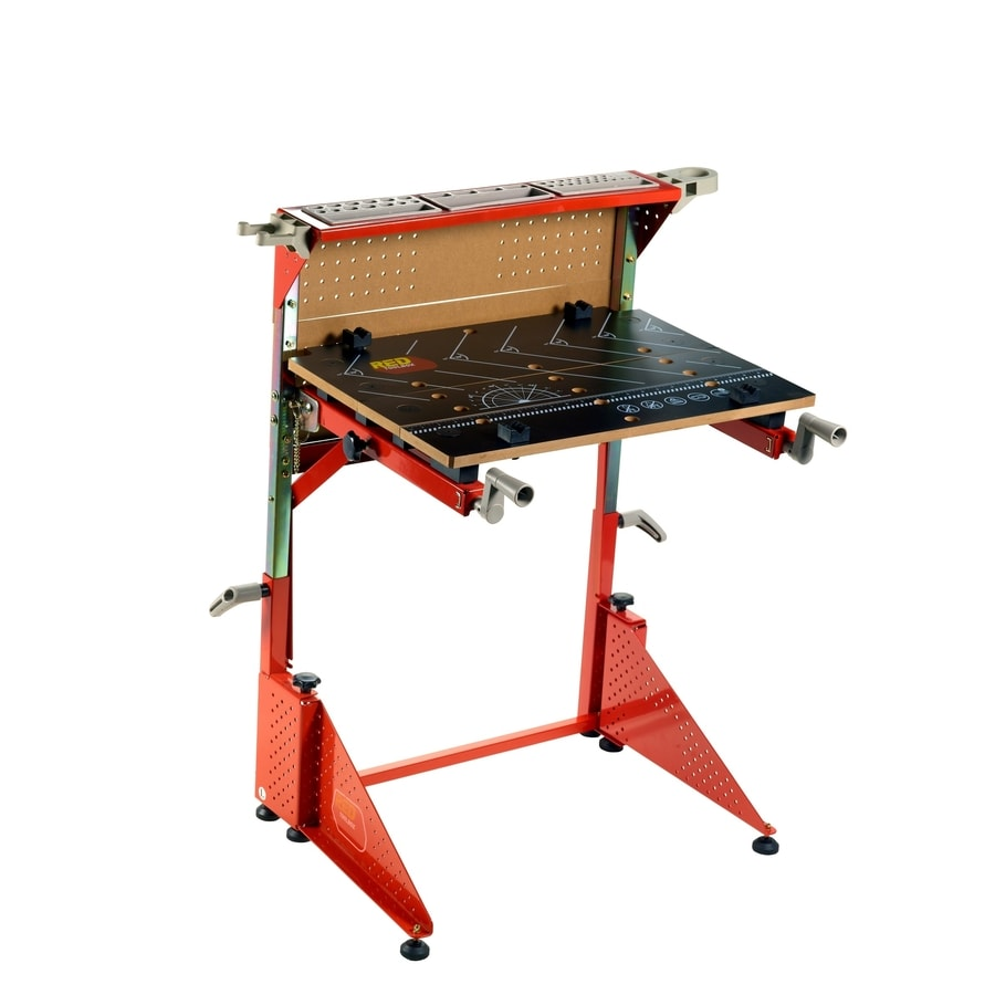 Red Toolbox Kid's 2-Handle Multipurpose Work Bench