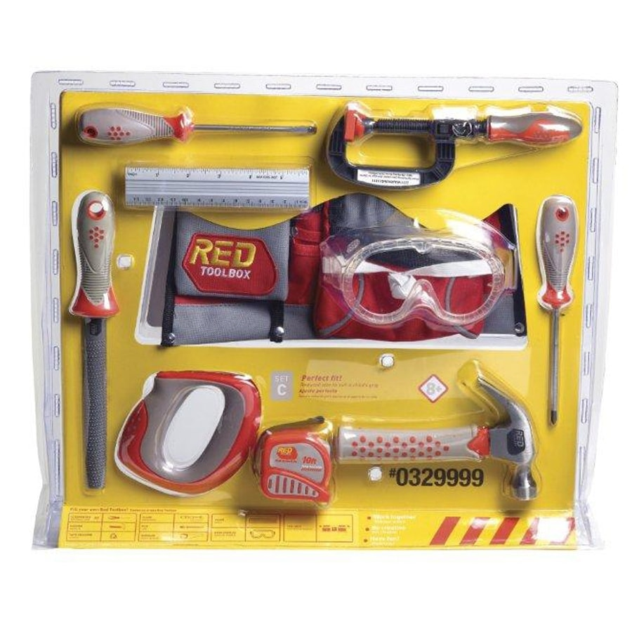 Red Toolbox Kid's 10-Piece Tool Set