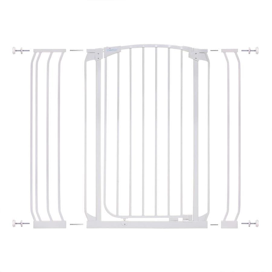 Dreambaby Chelsea Tall Auto-Close 42.5-in x 39.5-in White Metal Child Safety Gate
