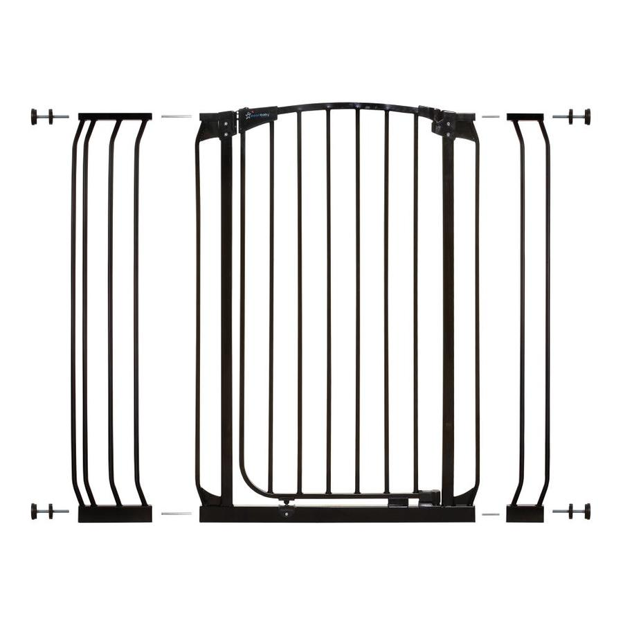 Dreambaby Chelsea Tall Auto-Close 42.5-in x 39.5-in Black Metal Child Safety Gate