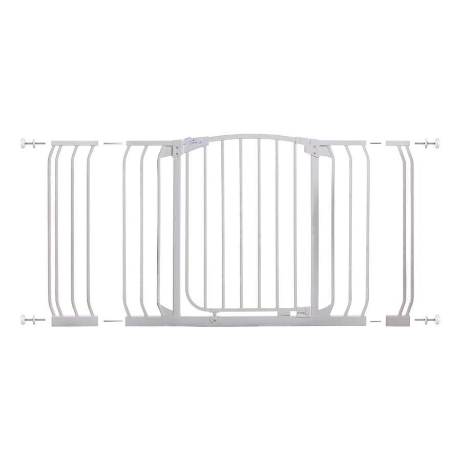 Dreambaby Chelsea Auto-Close 53-in x 29.5-in White Metal Child Safety Gate