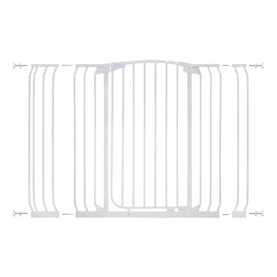 Dreambaby Chelsea Tall Auto-Close 53-in x 39.5-in White Metal Child Safety Gate