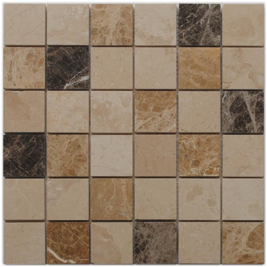 Big Pacific 12-in x 12-in Sand Beige Marble Floor Tile