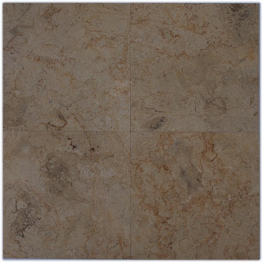 Big Pacific 12-in x 12-in Desert Gold Marble Floor Tile